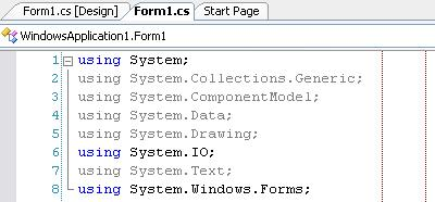 Guiding lines in VS.NET 2005